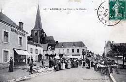 C2281 Cpa 36 Chabris - La Place Et Le Marché - Unclassified