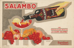Publicité Liqueur Salambo Bardinet A Bordeaux Signée Lager - Advertising