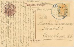 10833. Postal RIBAS (Barcelona) 1921.  Fechador Azul. Pirineos La Gorja De Nuria - Cartas