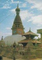 Swoyambhu - The Biggest Stupa In The World. -  Nepal  # 03710 - Nepal