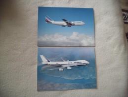 2 CARTES BOEING 747 ..AIR FRANCE. - 1946-....: Moderne