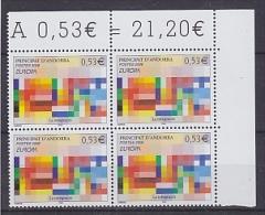 Europa Cept 2006 Andorra Fr. 1v Bl Of 4  ** Mnh (18057) - 2006