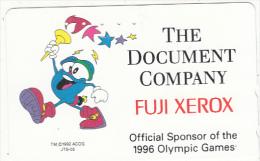 JAPAN - Fuji Xerox, Official Sponsor Of The Atlanta 1996 Olympics, NTT Telecard 50 Units(110-176040), Used - Giochi Olimpici