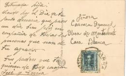 10835. Postal TARRASA (barcelona) 1926 Circulada A Olesa - Cartas