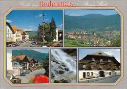 6909- POSTCARD, BODENMAIS- STREET VIEWS, TRADITIONAL HOUSES, CAR, INN, WATERFALL, PANORAMA - Bodenmais