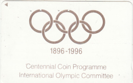 JAPAN - International Olympic Committee, 100 Years Olympic Games 1896-1996, NTT Telecard 50 Units(110-011), Used - Jeux Olympiques