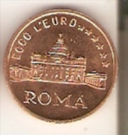 ¡RARA! MONEDA DE PRUEBA-TEST DE 1 CTS DEL VATICANO ECCO L´EURO JUAN PABLO II (JOANNES PAULUS II) - Vaticano (Ciudad Del)