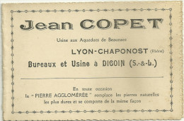 71 DIGOIN USINE JEAN COPET LYON CHAPONOST RHONE PUBLICITE - Digoin