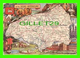 CARTES GÉOGRAPHIQUES - No 76, SEINE-INFÉRIEURE - ÉCRITE - BLONDEL La ROUGERY, 1946 - - Cartes Géographiques