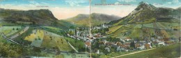 Réf : PO-14 - 358 :  Salins Les Bains Carte Panoramique Double Format - Francia