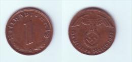 Germany1 Reichspfennig 1940 G - [ 4] 1933-1945 : Troisième Reich