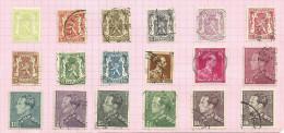 Belgique N°418A à 435 Côte 4.50 Euros - Oblitérés