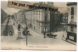 - NANTES - Le Boulevard Delorme, Animation, Calèches, Précurseur, Splendide, TBE, Scans. - Nantes