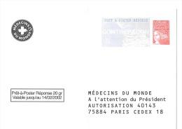 Postreponse Medecin Du Monde Sans N° - Entiers Postaux