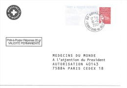 Postreponse Medecin Du Monde 0108661 - Entiers Postaux