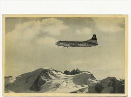 Swissair  Convair Liner  Edit Jean Gaberell Ag. Thalwil Over The Alps - 1946-....: Ere Moderne