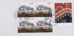 PORTUGAL, Bus, Transport, Broderie Traditionelle, Sur Lettre 2014 - Bus