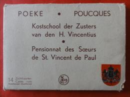 """Aalter / Poeke """" Verzameling Van 14 Zichtkaarten Van De Kostschool Der Zuster Van Den Heilige Vincentius """" - Aalter"""