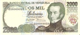 BILLETE DE VENEZUELA DE 2000 BOLIVARES DEL AÑO 1998 (BANKNOTE) SIN CIRCULAR-UNCIRCULATED - Venezuela