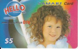 CAMBODIA - Little Girl, SAMART Prepaid Card $5, Exp.date 14/04/02, Used - Cambodia
