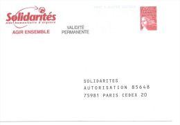 Postreponse Solidarité 0200691 - Entiers Postaux