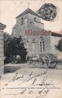 17 -  ROCHEFORT Sur MER -   Façade De L'Eglise De Brouage   - Charette   -  2 Scans - Rochefort