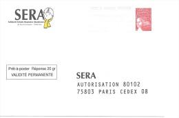 Postreponse Sera 0200931 - Entiers Postaux