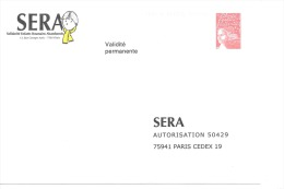 Postreponse Sera 0302733 - Entiers Postaux