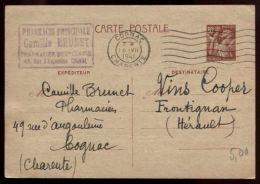 Entier Postal France Type Iris - Ganzsachen
