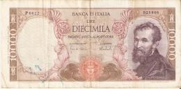 BILLETE DE ITALIA DE 10000 LIRAS DEL AÑO 1973 DE MICHELANGELO (BANKNOTE) - [ 2] 1946-… : Républic
