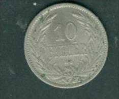HUNGARY MAGYAR 10 Filler 1894  - Pia7604 - Hungría