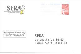 Postreponse Sera 0102507 - Entiers Postaux