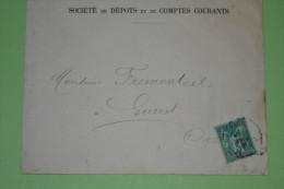 ENV. Sage N°75 De Paris 15/2/1881 Tarif Papier D'affaire Pour Guéret Cote: 15 € - Marcophilie (Lettres)