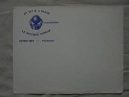 """Ancien Buvard Publicitaire """"En Vente à DAKAR Le Bouchon DONCAR"""" - D"""