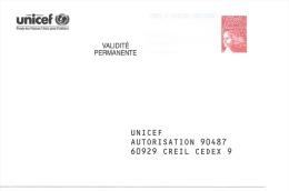 Postreponse Unicef 0200673 - Entiers Postaux