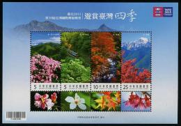 TAIWAN 2014 - Flore, Fleurs, Arbres, Paysages De Taiwan - BF  Neuf // Mnh - 1945-... République De Chine