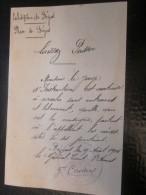Militaria 9 Aou 1914 Béziers Aude Titre Transport Laissez-passer S Entrave Au Juge Instruction >Général Cantoul 3é Armée - Documentos