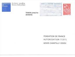 Postreponse Fondation De France 0411153 - Entiers Postaux