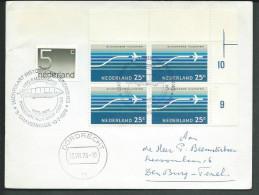 Nederland Envelop Tgv Ballonvaart 1976 Met Randblokje Van 4 NVPH LP15 - Netherlands
