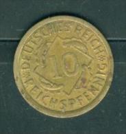 Germany 10 Reichspfennig 1936 A    - pia7711