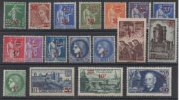 FRANCE - YT N° 476 à 493 - Neufs ** - MNH - Cote: 97,00 € - Frankrijk