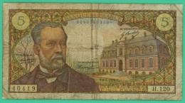 France -  5 Francs -  Pasteur - N° H.120 / 40419 - F.8-1-1970 - TB - 5 F 1966-1970 ''Pasteur''