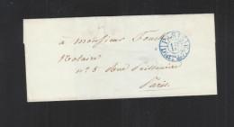 France Couvert 1840 Dist.on De 7h M - Marcophilie (Lettres)