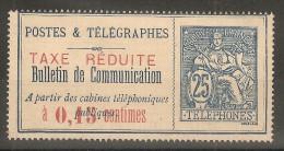 Timbre Télégraphe N° 21 Neuf Avec Charnière TB - Télégraphes Et Téléphones