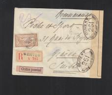 France Lettre Colis Postal 1916 Pour La Suisse Censure - Poststempel (Briefe)