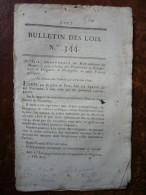 Bulletin Des Lois N°344 Louis Roi De France 1820 Concernant Propriétaires De Diligences Ou De Messageries - Décrets & Lois