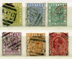 CÔTE  D'OR - GHANA - COLONIE BRITANNIQUE - COLLECTION D'ANCIENS 1876/1909 - 6 Timbres OBLITERES - Côte D'Or (...-1957)