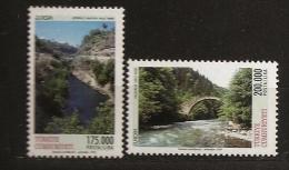 Turquie Türkiye 1999 N° 2911 / 2 ** Europa, Réserve, Parc, Canyon, Köprülü, Montagne, Kaçkar, Pont, Rivière, Nature - Ungebraucht