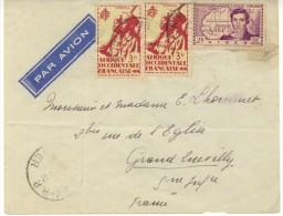 N°16x2+65 Sur Lettre De Niamey  Pour Grand Quevilly - Niger (1921-1944)