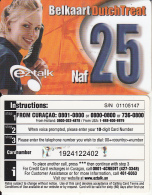 CURACAO - Girl, EZ Talk Prepaid Card 25 Naf, Used - Antilles (Netherlands)